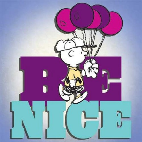 Special Sale 24436 Peanuts 24436 Be Nice Canvas Wall Art 8x8