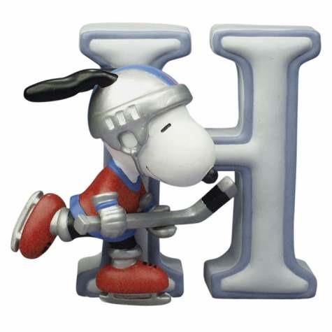 Special Sale 8578 Peanuts 8578 Letter H Snoopy Figurine