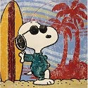 Special Sale 24440 Peanuts 24440 Surf's Up Embossed Tin Art