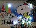 Special Sale 24444 Peanuts 24444 Merry and Bright Canvas Art 6 x 8