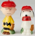 Peanuts Ceramics 6002277 Charlie Brown and Snoopy Baseball