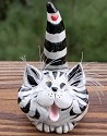 Pence Cats BCSHGreyBlackStripes Grey with Black Stripes Short Hair