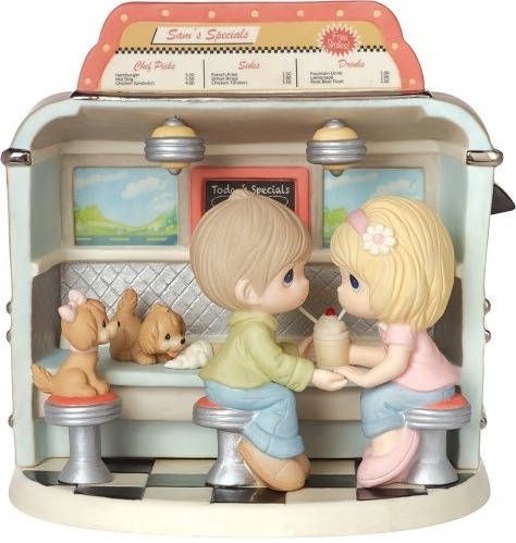 Precious Moments 154017 Dining Car Figurine LE