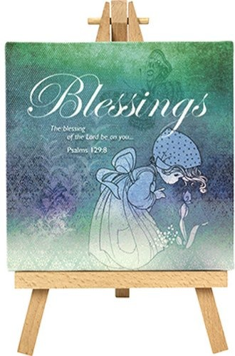 Precious Moments 164441 Blessings Canvas with Easel Display