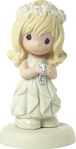 Precious Moments 172009 Communion Blonde Hair Light Skin Girl Figurine