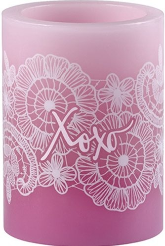 Precious Moments 172461 Pink 4in Pillar Candle LED