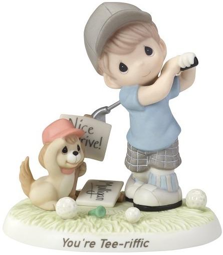 Precious Moments 173010 Boy Golfing with Dog Figurine