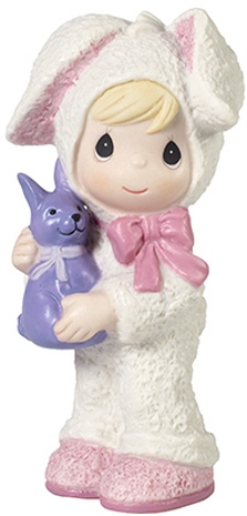 Precious Moments 179027 Boy In Bunny Costume Holding A Bunny Figurine