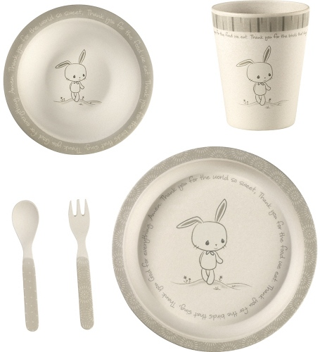 Precious Moments 182431 Mealtime Bunny Gift Set Set of 5