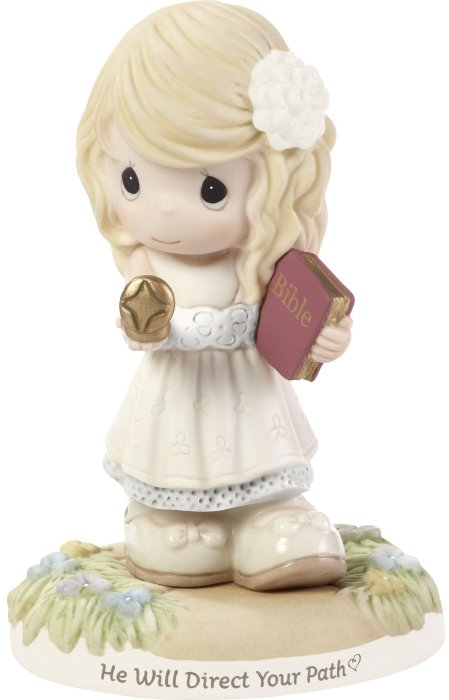 Precious Moments 192002 Confirmation Girl Holding Compass Figurine