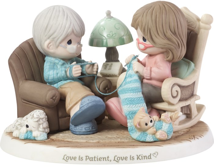 Special Sale 192007 Precious Moments 192007 Couple Knitting Figurine