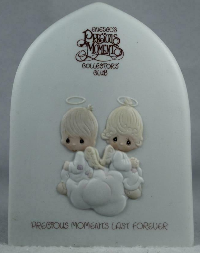 Precious Moments E0102 Collectors Club Plaque 1981
