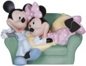 Precious Moments 131700 Disney Mickey and Minnie on Couch Figurine