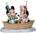 Precious Moments 132701 Disney Mickey and Minnie In Boat Figurine