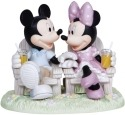 Precious Moments 133707 Disney Mickey and Minnie In Adirondack Chairs Figurine