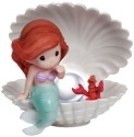 Precious Moments 134007 Disney Ariel In Shell with LED Pearl Figurine