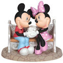 Precious Moments 142715 Disney Mickey and Minnie on Park Bench Figurine