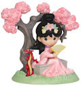 Precious Moments 143019 Disney Mulan Under Cherry Blossom Tree Figurine