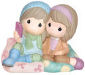 Precious Moments 143026 Girls Sitting on Large Pillows Taking Selfie Figurine