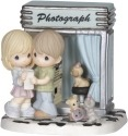 Precious Moments 144017 Vintage Photo Booth Couple Figurine LE