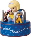 Precious Moments 152101 Disney Girl with Mickey and Friends Rotating Musical