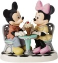 Precious Moments 152704 Disney Mickey and Minnie Sharing Ice Cream Float Figurine