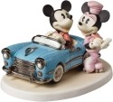 Precious Moments 152706 Disney Mickey In Car with Minnie on Skates Figurine