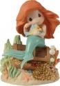Precious Moments 153010 Disney Ariel Seated on Treasure Box Holding Flounder Figurine