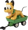 Precious Moments 153703 Disney Pluto In Wagon Figurine