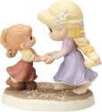Precious Moments 154012 Disney Girl Dressed as Rapunzel with Girl Figurine