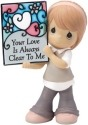 Precious Moments 154054 Standing Girl Holding Stained Glass Figurine