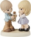 Precious Moments 159024 Couple with Message In A Bottle Figurine