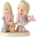 Precious Moments 162003 Girl Looking at Mirror Figurine