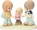 Precious Moments 163014 Girl Holding Parents Hands Figurine