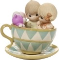Precious Moments 171036 Couple In Teacup Figurine