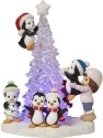 Precious Moments 171413 Girl with Penguins Decorating LED Tree Figurine