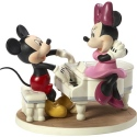 Precious Moments 173704 Disney Mickey and Minnie with Piano Musical