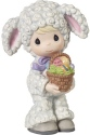 Precious Moments 179029 Boy In Lamb Costume with Basket of Eggs Figurine