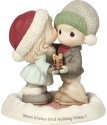 Precious Moments 181014 Girl Kissing Boy with Present Figurine