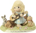 Precious Moments 182004 Girl Playing Guitar with Animals Figurine