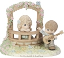 Precious Moments 182008 Boy Playing Guitar For Girl Figurine LE