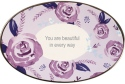 Precious Moments 182415 Floral Oval Trinket Dish