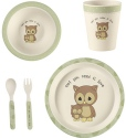 Precious Moments 182432 Mealtime Owl Gift Set Set of 5