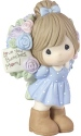 Precious Moments 183004 Girl with Large Rose Bouquet Figurine