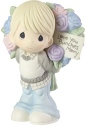 Precious Moments 183005 Boy with Large Rose Bouquet Figurine