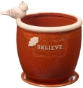 Precious Moments 185008 Believe Flower Pot