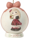 Precious Moments 191003 Dated 2019 Girl Ball Ornament