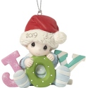 Precious Moments 191006 Dated 2019 Baby Boy Ornament