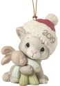 Precious Moments 191007 Christmas Kitty Cuddles Dated 2019 Cat Ornament