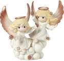 Precious Moments 191013 Two Angels with Snowflakes Figurine LE